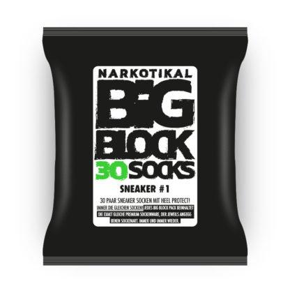 Bigblock 30 Paar Sneaker Socken, Premium Feinstrick, unschlagbar günstig, Europa