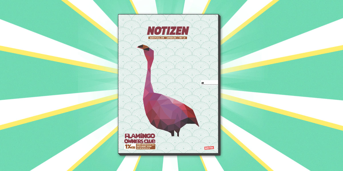 Schulheft-Flamingo-Notizen-Schreibheft-A4-A5-A6