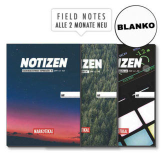 Notizen Schreibheft blanko A4 A5 A6 Field Notes
