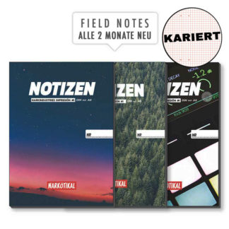 Notizen Schreibheft kariert A4 A5 A6 Field Notes